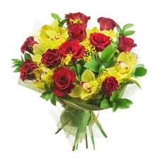 Bouquet de Rosas e Orquideas