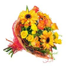 Bouquet de Gerberas e Rosas Amarelas